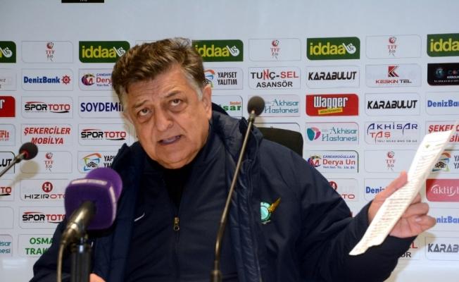 Akhisarspor - Fatih Karagümrük maçının ardından