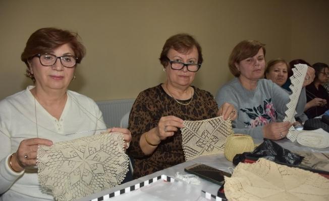 Girit danteli Şehzadeler'de yaşatılıyor