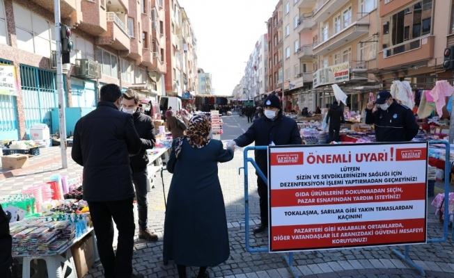 Akhisar Belediyesi'nden pazar yerleri için örnek uygulama
