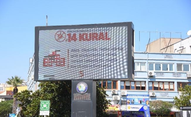 Salihli Belediyesi korona virüse karşı halkı bilgilendiriyor