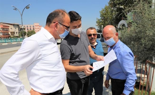 Başkan Akın'dan Mimar Sinan Parkında inceleme