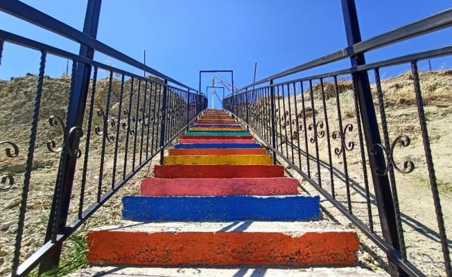 Şatırlar'daki Seyir Tepesine merdiven yapıldı