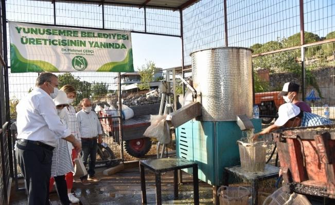 Antep fıstığı kavlatma makinesi Akçaköy'de hizmete girdi