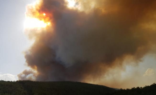 Gördes'te korkunç yangın