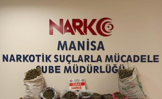 Manisa'da uyuşturucu operasyonu: 6 kilogram esrar ele geçirildi