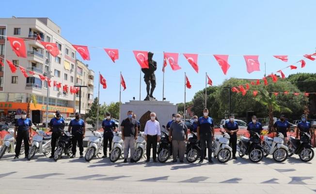 Saruhanlı Belediyesinden Çiftçi Malları Koruma'ya motosiklet desteği