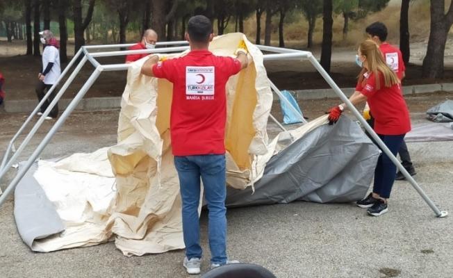 Türk Kızılay Manisa Şubesi Afet Timleri olası afetlere hazır
