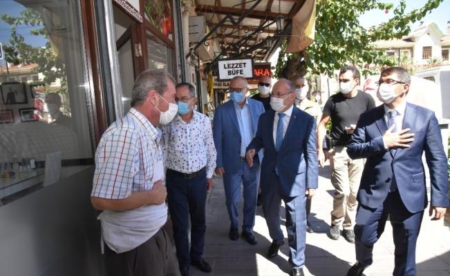 Vali Karadeniz'in kentteki korona virüs denetimleri sürüyor