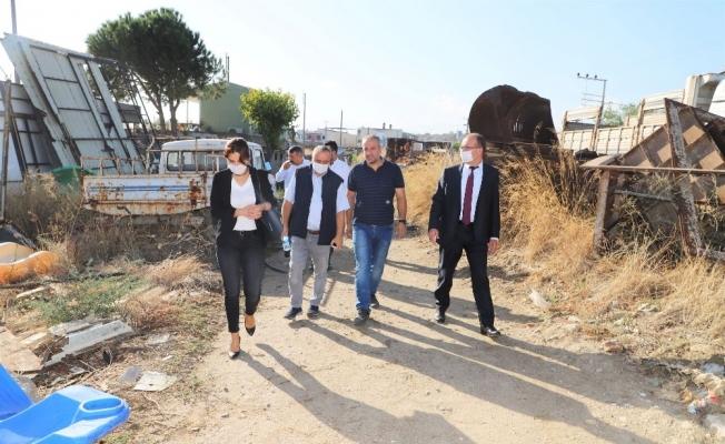 Başkan Çetin Akın'dan Turgutlu Belediye şantiyesine ziyaret