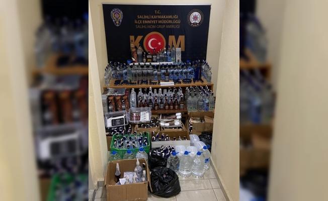 Manisa'da 350 şişe sahte içki ele geçirildi