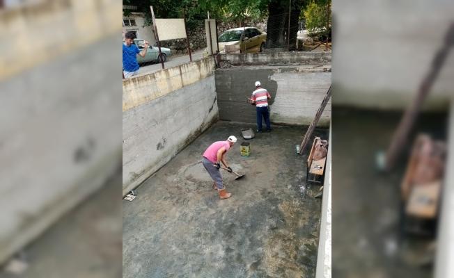 Manisa'da tarımsal sulama havuzunda yenileme