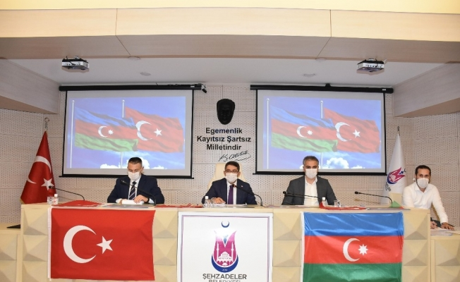 Şehzadeler Belediyesi Meclisinden ortak Azerbaycan bildirisi