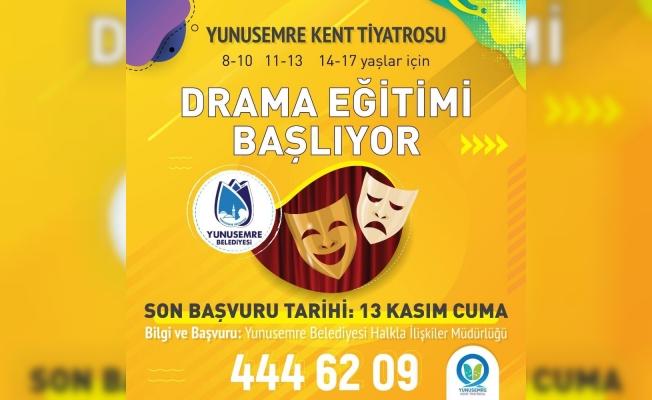 Yunusemre Kent Tiyatrosu'nda drama eğitimi başlıyor