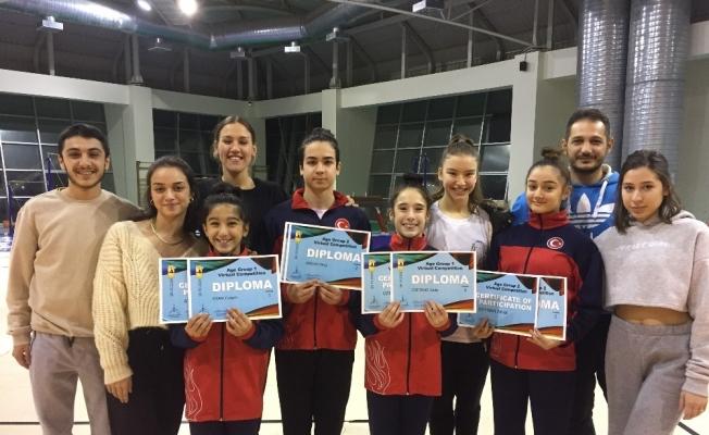 Başarılı cimnastikçiler belgelendi