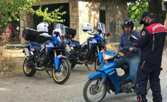 Manisa jandarmasından motosiklet denetimi