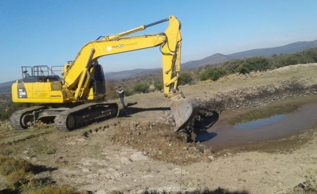 Seyitli HİS göletlerinde temizlik başladı