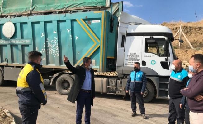 Turgutlu'daki çevreci yatırımda çalışmalar incelendi