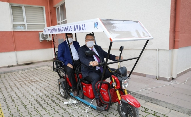 Yunusemre Belediyesinden pandemiyle mücadeleye araç desteği