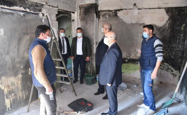 Başkan Kayda'dan evi yanan aileye ziyaret