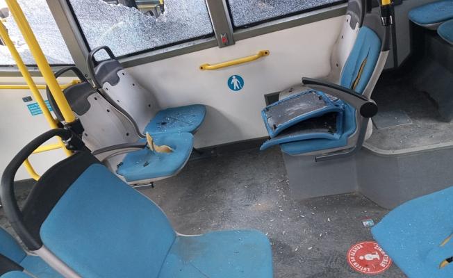 Manisa'da otobüslere saldırı!