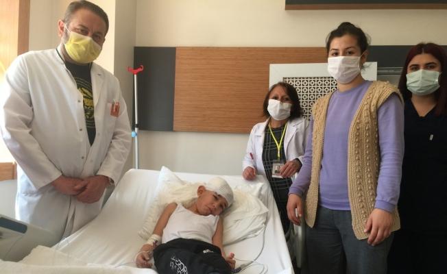 Başına kör kurşun giren çocuk sağlığına kavuştu