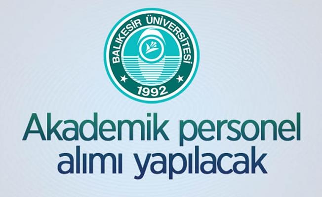 Balıkesir Üniversitesi 13 Öğretim Üyesi alıyor