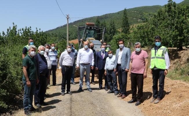 Dağmarmara'da üreticinin yolu yenileniyor