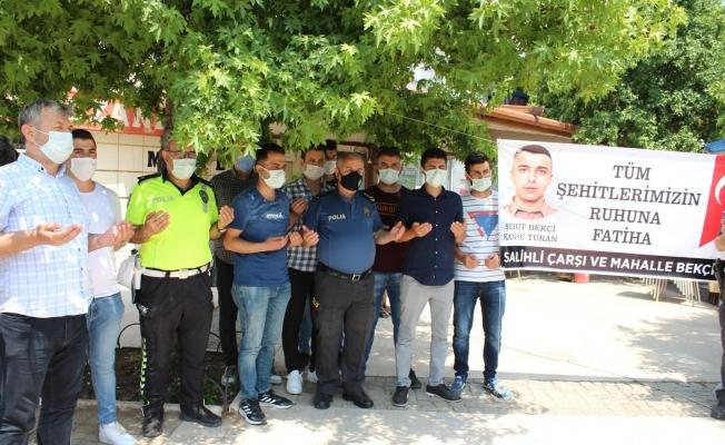 İstanbul'da şehit olan bekçi Kansu Turan, Salihli'de anıldı
