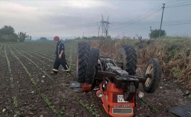 Kırkağaç'ta traktör kazası: 1 ölü