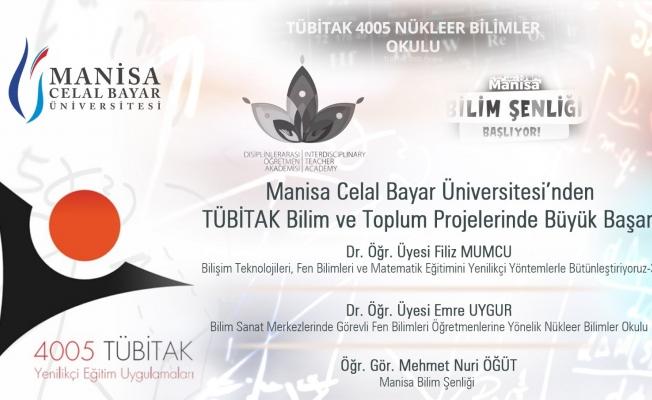 Manisa CBÜ'nün 3 projesine TÜBİTAK'tan destek