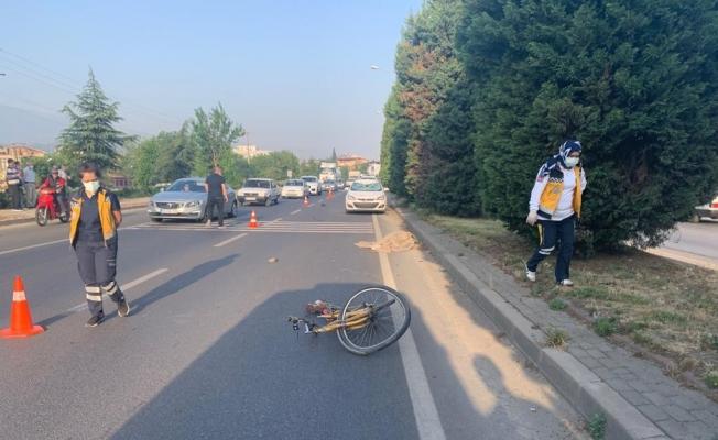 Manisa'da otomobilin çarptığı bisikletli öldü