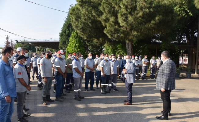Başkan Kayda, şantiyede işçilerle buluştu