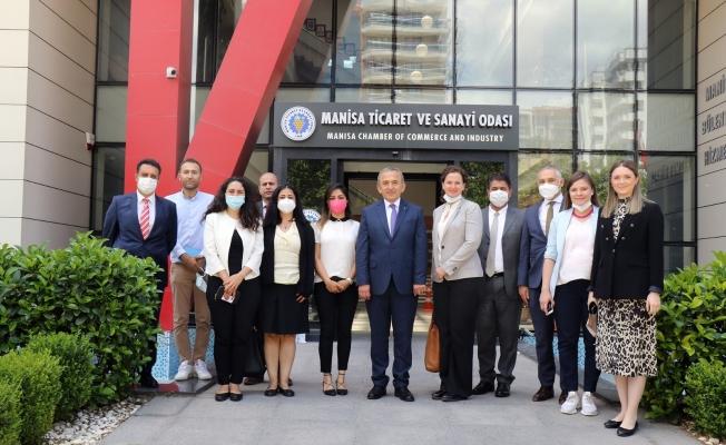 BM Dünya Gıda Programı Yetkilileri Manisa TSO'yu ziyaret etti