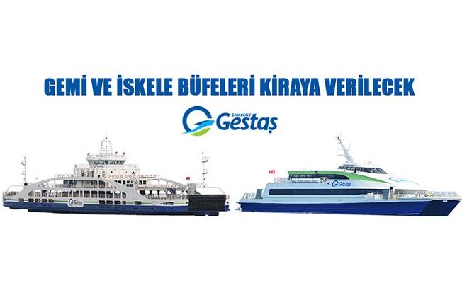 Gestaş Deniz Ulaşım Turizm Ticaret A.Ş. gemi ve iskele büfelerini kiraya verecek
