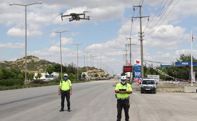 Kural ihlali yapan sürücüler drone ile tespit edildi