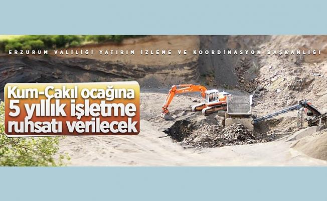 Palandöken'deki Kum-Çakıl ocağı için 5 yıllığına işletme ruhsatı verilecek