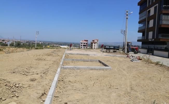 Turgutlu Belediyesi ilçeye yeni bir yeşil alan daha kazandırıyor