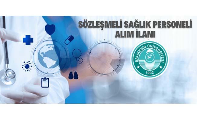Balıkesir Üniversitesi 23 Sözleşmeli Sağlık Personeli Alacak