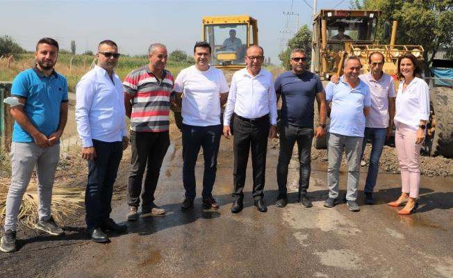 DSİ'ye ait yollarda Turgutlu Belediyesi asfalt çalışmalarına başladı