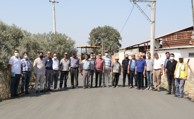 Komisyon üyeleri beton yolu inceledi