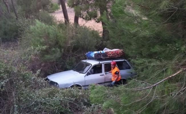 Kontrolden çıkan otomobil şarampole uçtu: 5 yaralı