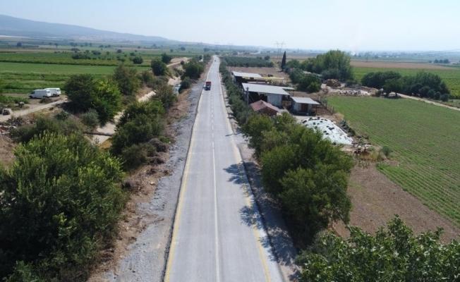 Manisa'da uygulanan beton yolda 1 milyon metrekare geçildi