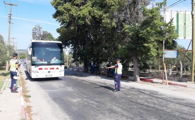 Manisa'da yapılan otobüs denetimlerinde 39 bin TL ceza kesildi