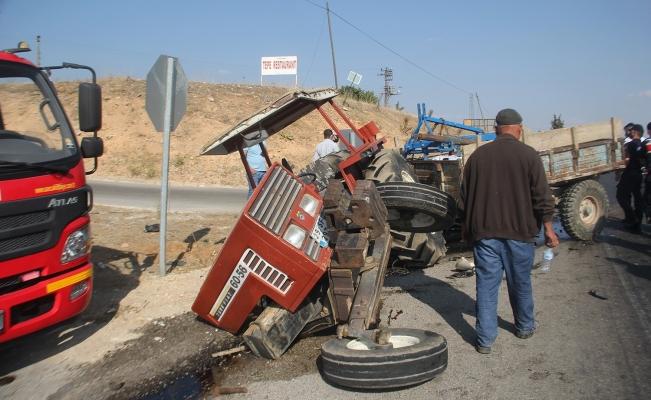 İkiye bölünen traktörden sağ çıktı