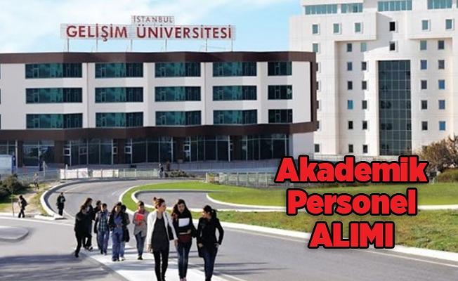 İstanbul Gelişim Üniversitesinden akademik personel alım ilanı (Öğretim Üyesi)