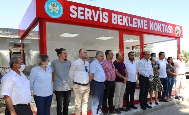 Turgutlu'da dört modern bekleme noktası halkın hizmetinde