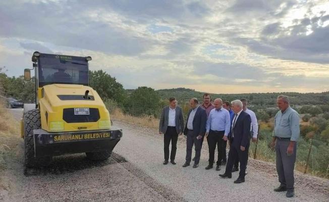 Kepenekli ile Taşdibi arasındaki ara bağlantı yolu asfaltlanıyor