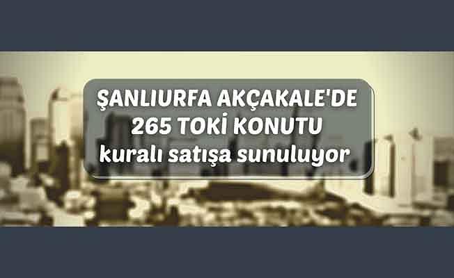 TOKİ'den Şanlıurfa Akçakale'de konut satışı