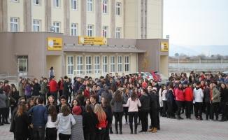 Okulda yangın ve deprem tatbikatı