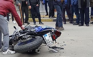 Genç futbolcu trafik kazası geçirdi